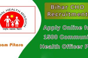 Bihar CHO Recruitment Online apply