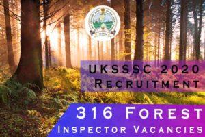 316 Forest Inspector Vacancies