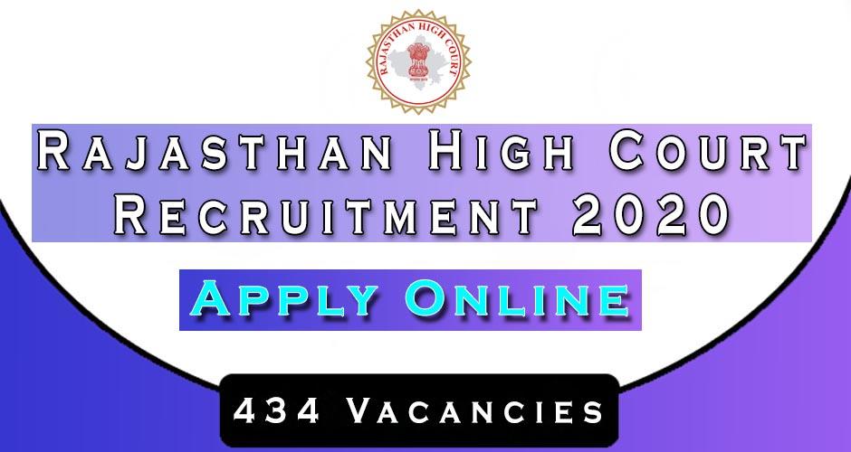 Rajasthan High Court Stenographer Recruitment