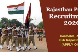 Rajasthan Police recruitment banner