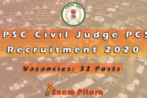 CGPSC Civil Judge PCS J Recruitment