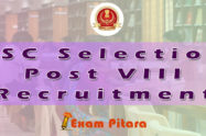 SSC Selection Post VIII Recruitment