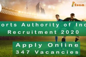 Sports Authority of India Recruitment 2020