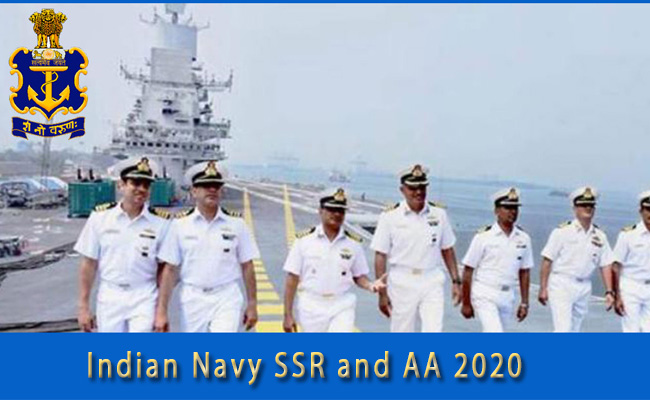 Indian Navy SSR and AA Recruitment 2020