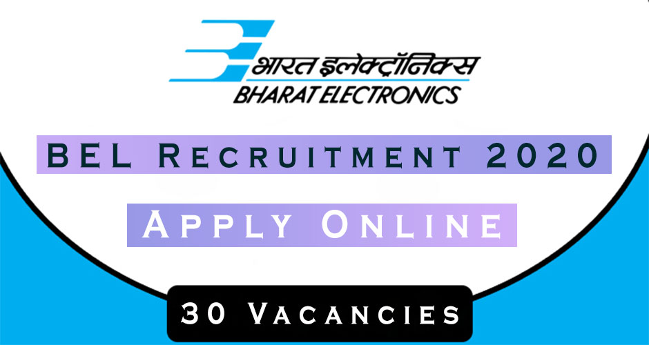 BEL Recruitment 2020-Apply Online