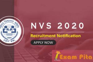 NVS Recruitment 2020