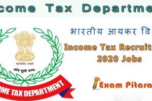 Income Tax Recruitment 2020 Jobs