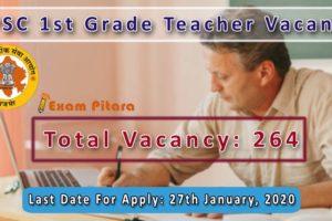 RPSC 1st Grade Teacher Bharti