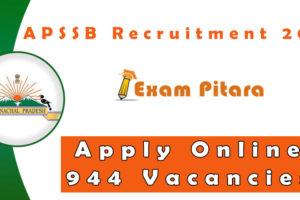 APSSB Recruitment 2020