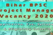 Bihar BPSC Project Manager