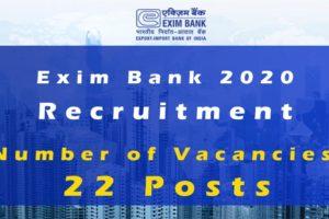 Exim Bank 2020 Vacancy Details