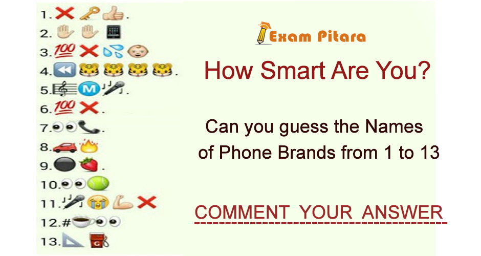Guess the Phone Brands Smart Reasoning
