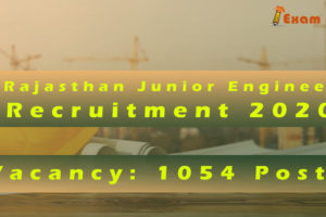Rajasthan Junior Engineer Recruitment 2020