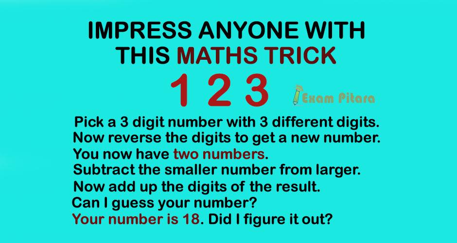 Math magic Trick Puzzle