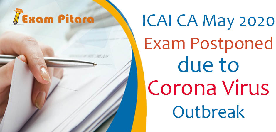 Rescheduled Dates for ICAI CA Exam 2020